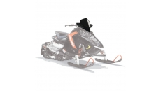 AXYS® Snowmobile Mid Windshield - Black
